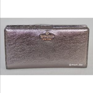 kate spade  new york Lane Stacy Metallic Wallet